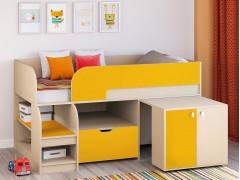 Кровать-чердак Астра 9 V9 Дуб молочный - Оранжевый