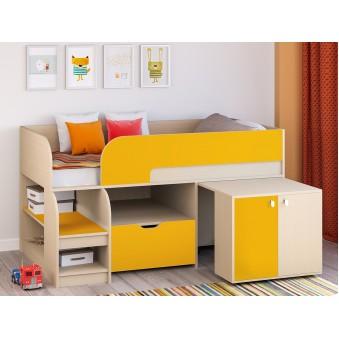 Детская кровать-чердак Астра 9 V9 Дуб молочный - Оранжевый