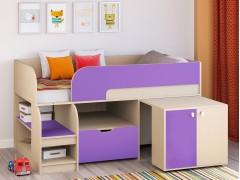 Кровать-чердак Астра 9 V9 Дуб молочный - Фиолетовый