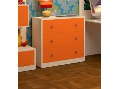 Комод Дуб молочный - Оранжевый