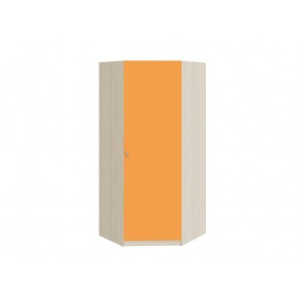 Шкаф угловой Дуб молочный - Оранжевый