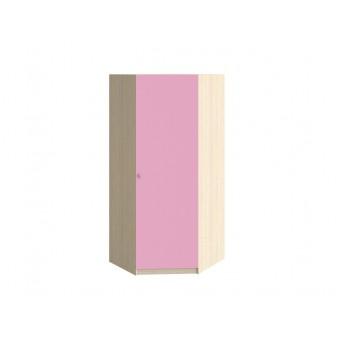 Шкаф угловой Дуб молочный - Розовый