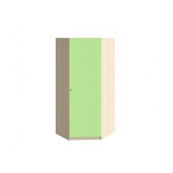 Шкаф угловой Дуб молочный - Салатовый