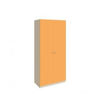 Шкаф 45 Дуб молочный - Оранжевый